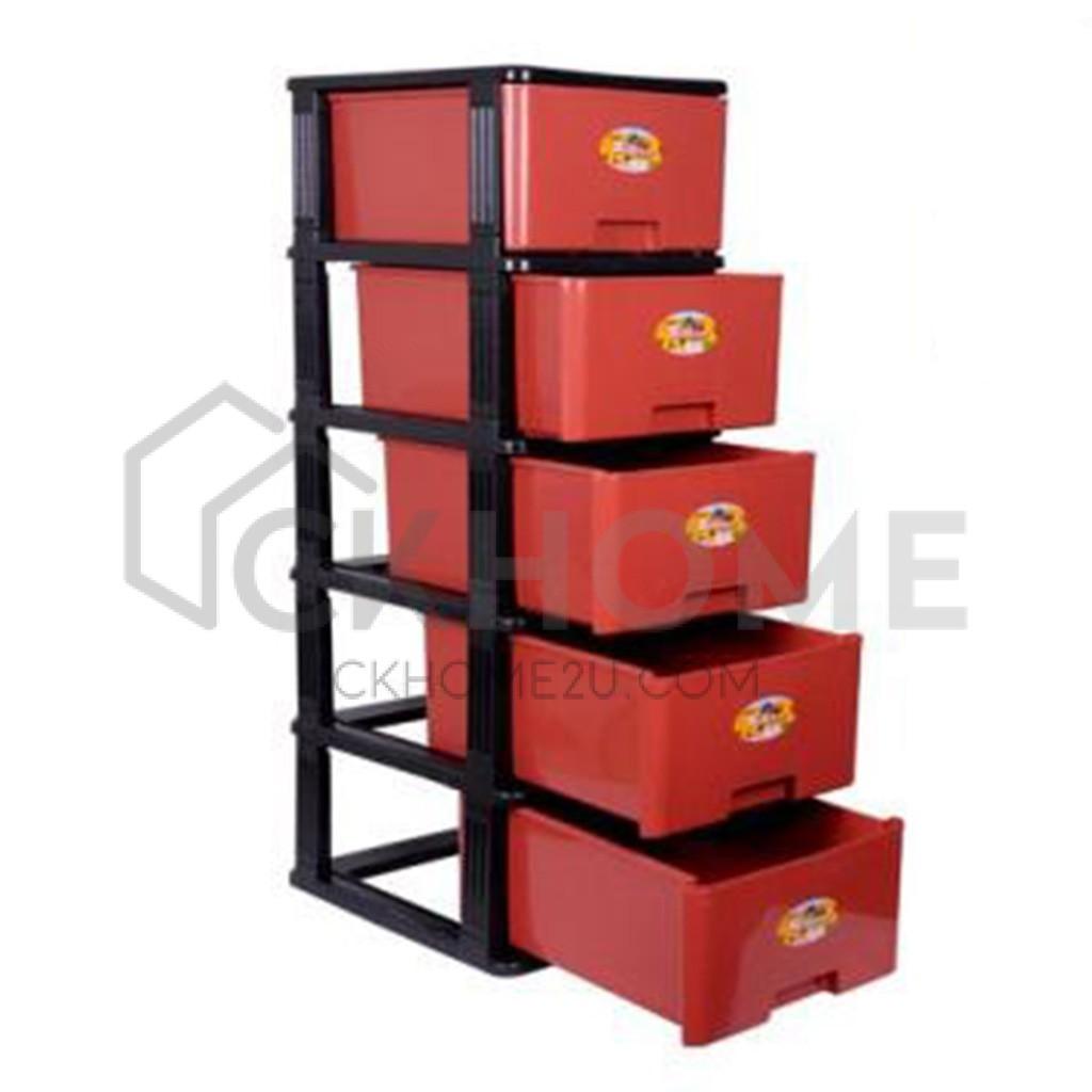 5 Tier Plastic Drawers Ckhome2u, Plastic Drawer Cabinet Tesco